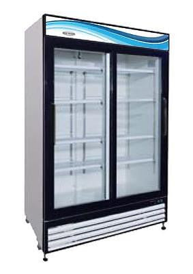 ServWare GR-48S glass door refrigerator merchandiser BRAND NEW 48 cubit feet - BUYREL