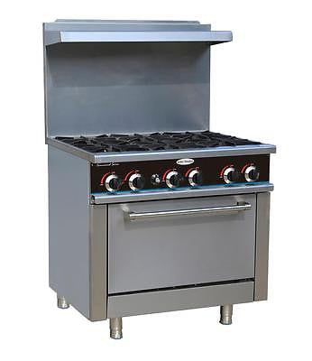 ServWare SGR-6 6 burner gas range w/ full size oven BRAND NEW IN BOX - BUYREL