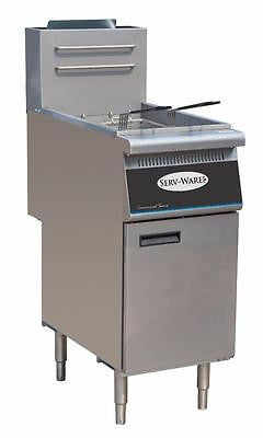 ServWare SGF-3 40 lb gas fryer BRAND NEW 1 year warranty - BUYREL