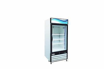 ServWare GR-16 glass door refrigerator merchandiser BRAND NEW 16 cubit feet - BUYREL