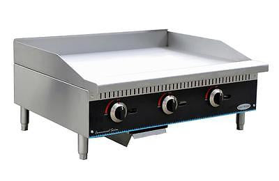 "ServWare SMG-48 48"" manual gas griddle BRAND NEW IN BOX - BUYREL"