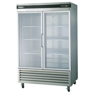 BSR49G-2 Glass Doors Stainless Refrigerator, Bottom Mounted-buyREL