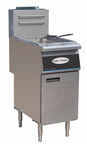 ServWare SGF-3 40 lb gas fryer 1 year warranty