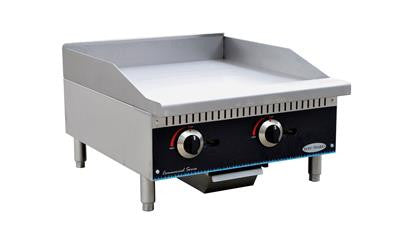 "ServWare SMG-24 24"" manual gas griddle"