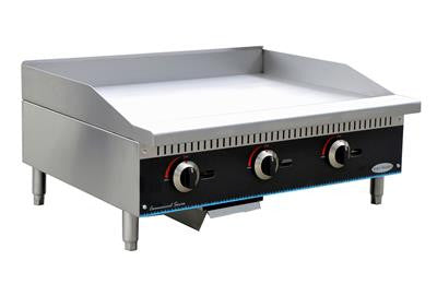 "ServWare SMG-48 48"" manual gas griddle"
