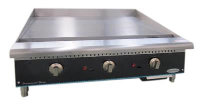"ServWare STG-36 36"" thermostatic gas griddle"