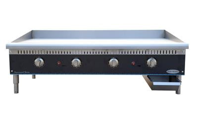 "ServWare STG-48 48"" thermostatic gas griddle"