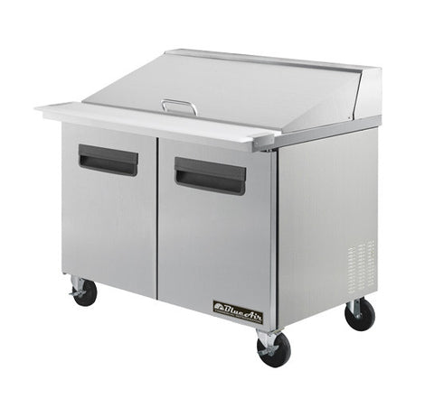 "BAMT36-2 Doors All Stainless Prep. Table with 15 Pans / Mega top, 36""-buyREL"