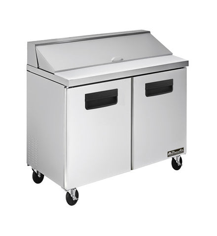 "BAPT36-2 Doors All Stainless Prep. Table with 10 Pans / 36""-buyREL"