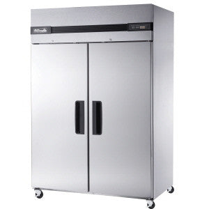BSR49T-2 Solid Doors Stainless Refrigerator, Top Mounted-buyREL