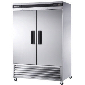 BSR49-2 Solid Doors Stainless Refrigerator, Bottom Mounted-buyREL