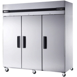 BSR72T-3 Solid Doors Stainless Refrigerator, Top Mounted-buyREL
