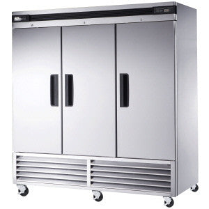 BASR3-3 Solid Doors Stainless Refrigerator, Bottom Mounted-buyREL