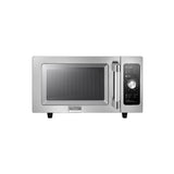 Midea Stainless Steel Commercial Microwave with Dial Control - 0.9 Cu Ft. 1000W, 120V