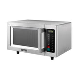 Midea Stainless Steel Commercial Microwave with Push Button Control - 0.9 Cu Ft. 1000W, 120V