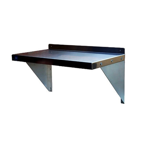 WS1296-Wall Shelf, 430 Stainless Steel, with Mounting Brackets-buyREL