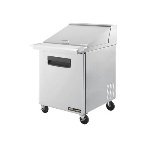 "BAMT28-1 Door All Stainless Prep. Table with 12 Pans / Mega top, 28""-buyREL"