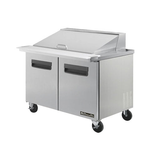 "BAMT48-2 Doors All Stainless Prep. Table with 18 Pans / Mega top, 48""-buyREL"