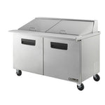 "BAMT60 -2 Doors 60"" All Stainless Prep. Table with 24 Pans / Mega top, 60""-buyREL"
