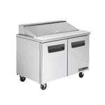 "BAPT48 -2 Doors All Stainless Prep. Table with 12 Pans / 48""-buyREL"