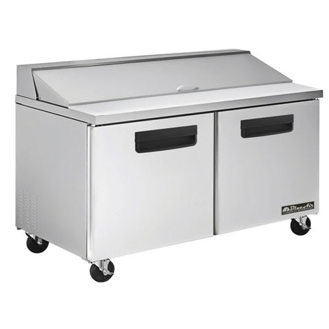 "BAPT60-2 Doors 60"" All Stainless Prep. Table with 16 Pans / 60""-buyREL"