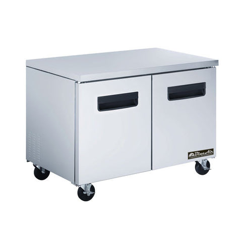 "BAUF48-2 Doors All Stainless Under-counter Freezer / 48""-buyREL"