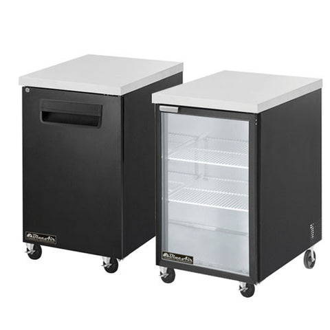 "BBB23-1B-1 Door Back Bar Cooler, Black Finish Exterior, W23""-buyREL"