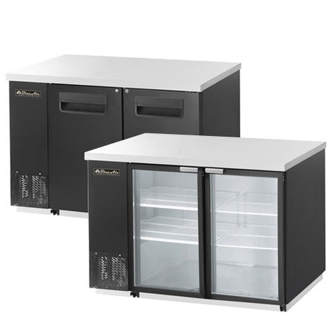 "BBB59-2B-2 Doors Back Bar Cooler, Black Finish Exterior, W59""-buyREL"