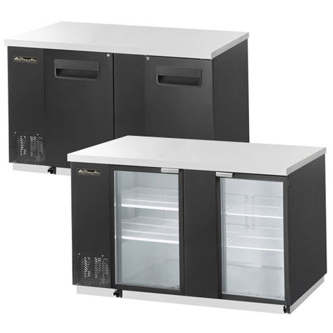 "BBB69-3B-2 Doors Back Bar Cooler, Black Finish Exterior, W69""-buyREL"