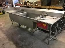 Used-Duke SteelKor K-1000 3 Compartment Powerwashing Sink-buyREL