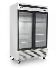NEW-Atosa MCF8703 Two Glass Door Freezer, Bottom Mount Compressor-buyREL