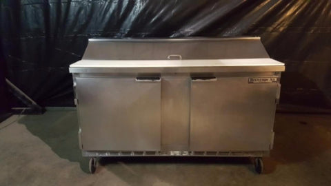 "Used-Beverage-Air SP60-16 60"" Two Door Refrigerated Salad/Sandwich Prep Table-buyREL"
