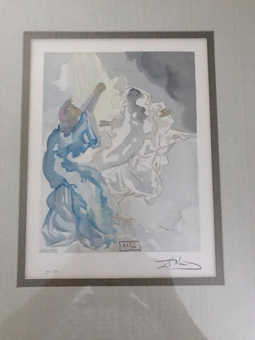 "Used-Salvador Dali ""The First Heaven"" Divine Comedy signed & framed-buyREL"