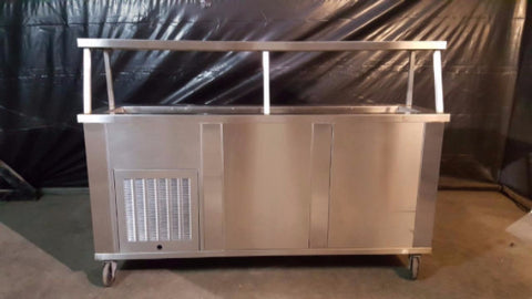 "Used- Piper Servolift 3-CMSL 72"" Refrigerated Slimline Cold Food Bar-buyREL"