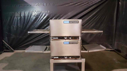 "Lincoln 1301 Double Stack 50"" Pizza Conveyor Ovens"