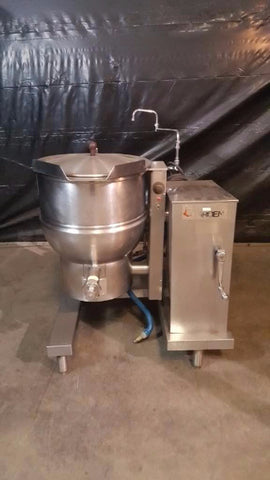 Used-Groen DHT/P-20 20 Gallon Natural Gas Tilting Steam Kettle w/ Water Fill-buyREL