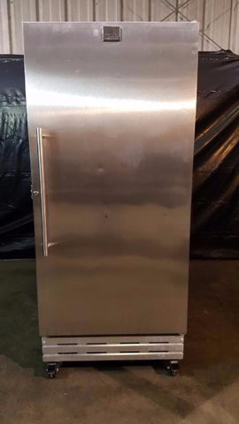 Used-Kelvinator KFS220RHY0 Single Door Stainless Steel Economy Freezer-buyREL