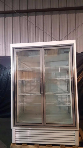 Used-Hussmann HGL-2-BS Low Temp Glass Door Merchandiser Freezer-buyREL