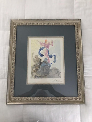 "Used-Salvador Dali ""The New Aspect of Beatrice"" Divine Comedy signed & framed"