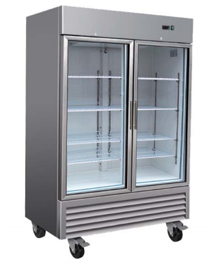 Reach-In Refrigerator 2-49G / 2 Glass Door