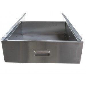 "Stainless Steel Drawer Size For 24"" Deep Worktables (fi ts 30"" wide)"