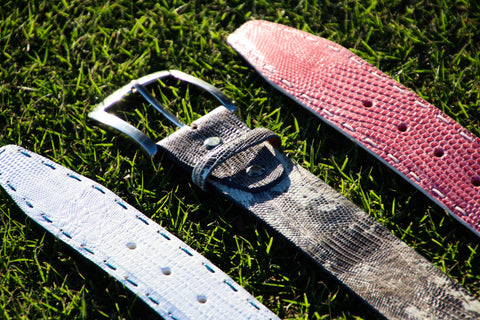 Belts with Pick Stitch