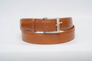 Caramel Italian Calf 40MM Belt - Caramel Stitch and Caramel Edge