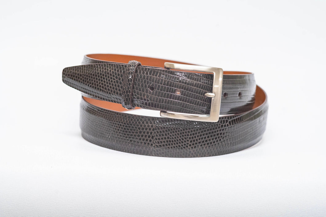 Overstock Sale - Espresso Lizard With No Stitch and Espresso Edge - 40MM