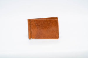 Wallet- Caramel Genuine Italian Calf with Caramel Stitch and Caramel Edge