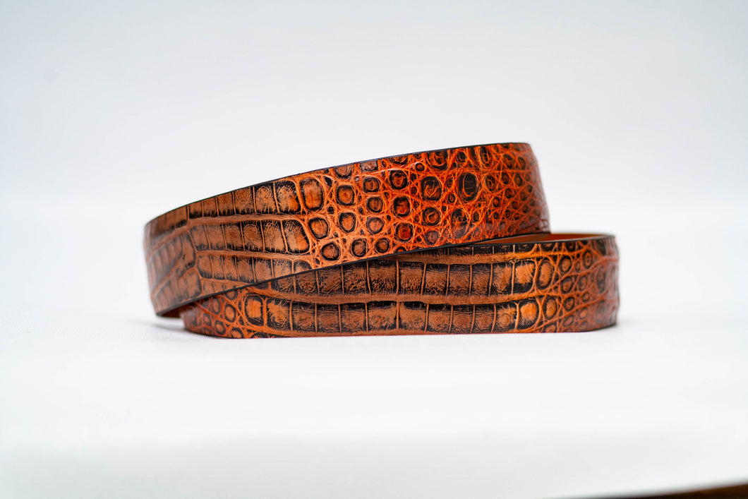 Hand painted Crocodile Belt- 40MM