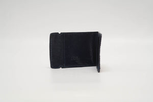 Cash Cover- Olive Genuine Caiman Crocodile with Navy Stitching and Navy Edge