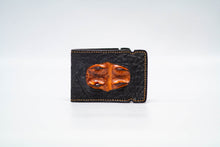Load image into Gallery viewer, Cash Cover - Bison (Black) With Hornback (Cognac) Inlay