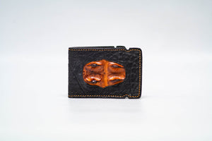 Cash Cover - Bison (Black) With Hornback (Cognac) Inlay