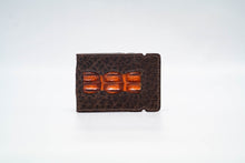Load image into Gallery viewer, Cash Cover - Bison (Espresso) With Hornback (Cognac) Inlay